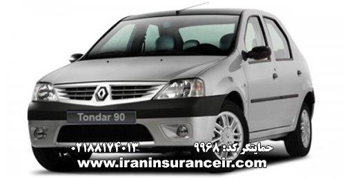 بیمه شخص ثالث رنو تندر E2 : قیمت بیمه شخص ثالث بیمه ایران - محاسبه آنلاین Online Iran Car Insurance