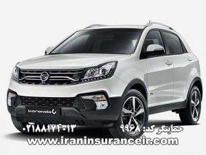 بیمه شخص ثالث سانگ یانگ کوراندو : قیمت بیمه شخص ثالث بیمه ایران - محاسبه آنلاین خرید اینترنتی internet Online Iran Car Insurance
